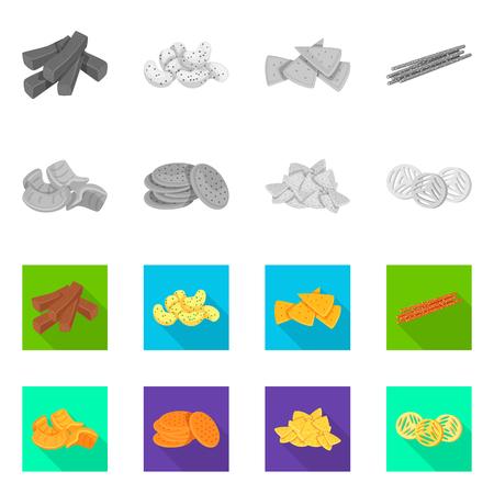 Vector illustration of Oktoberfest and bar icon. Set of Oktoberfest and cooking stock vector illustration.