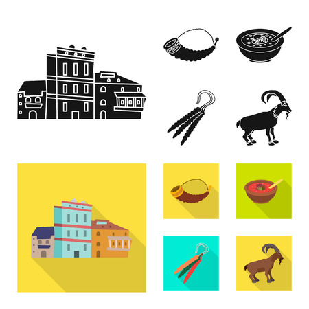 Vector illustration of culture and sightseeing. Collection of culture and originality stock symbol for web. Illustration