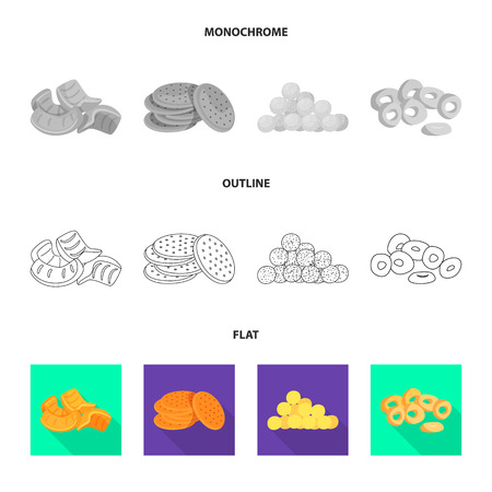 Illustration vectorielle de l'Oktoberfest et symbole de la barre. Collection d'Oktoberfest et symbole boursier de cuisine pour le web.