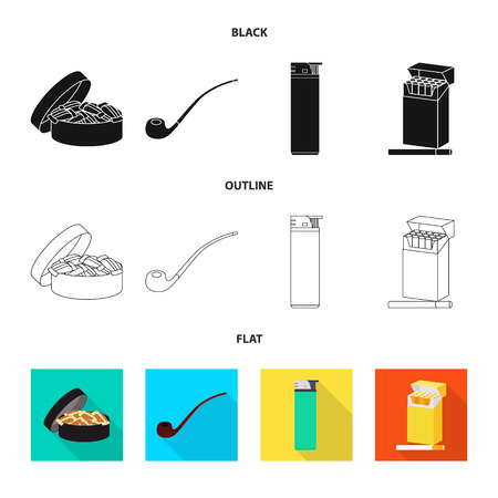 Vector design of refuse and stop icon. Collection of refuse and habit stock symbol for web.