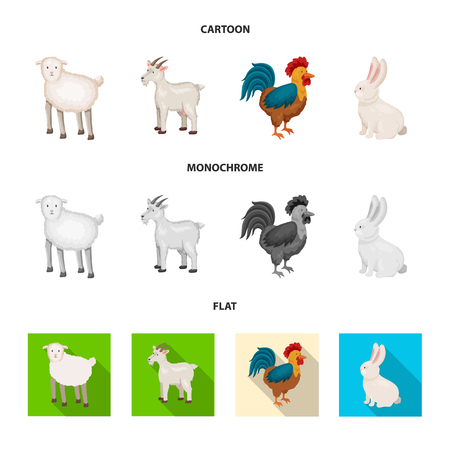 Vector design of breeding and kitchen  sign. Set of breeding and organic  stock symbol for web. Vettoriali
