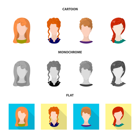 Vector illustration of professional and photo logo. Set of professional and profile vector icon for stock.