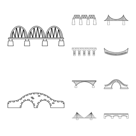 Isolated object of sight and connection symbol. Set of sight and construct vector icon for stock. Иллюстрация