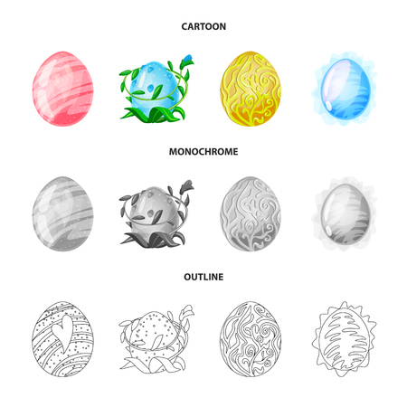Isolated object of animal and prehistoric icon. Collection of animal and cute  stock vector illustration.