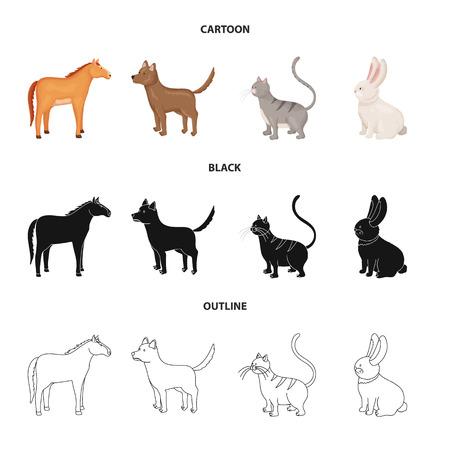 Vector illustration of breeding and kitchen symbol. Set of breeding and organic stock vector illustration. Ilustración de vector