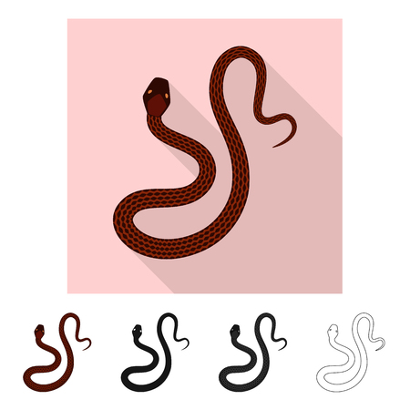 Isolated object of mammal and danger icon. Collection of mammal and medicine stock symbol for web.