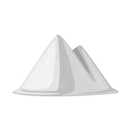 Vectorontwerp van hoop en zout teken. Set heap en kruiden aandelensymbool voor web. Vector Illustratie