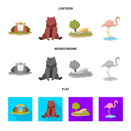 Vector illustration of nature  and fun  icon. Set of nature  and entertainment stock symbol for web.