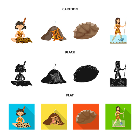 Isolated object of evolution  and prehistory symbol. Collection of evolution  and development  vector icon for stock.