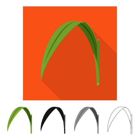 Vector illustration of leaf and green symbol. Set of leaf and material vector icon for stock.