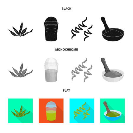 Vector design of protein and sea icon. Collection of protein and natural stock vector illustration.