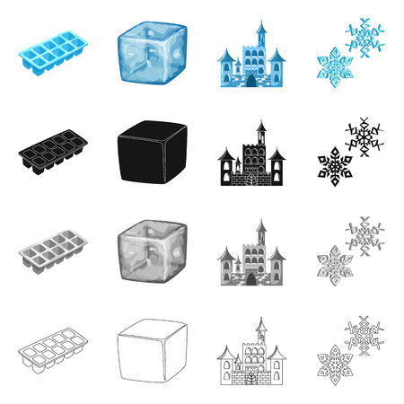 Vector design of texture  and frozen  symbol. Set of texture  and transparent  vector icon for stock. Stock Illustratie