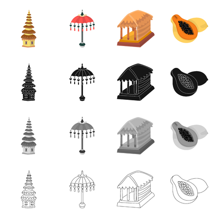 Isolated object of  and travel icon. Collection of  and traditional stock symbol for web. Illustration