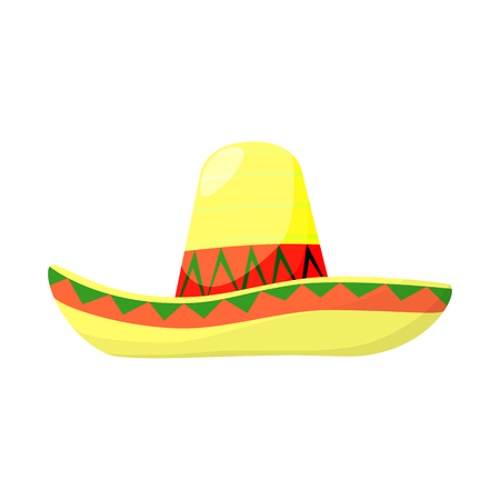 Vector illustration of sombrero and mexican logo. Collection of sombrero and hat vector icon for stock.