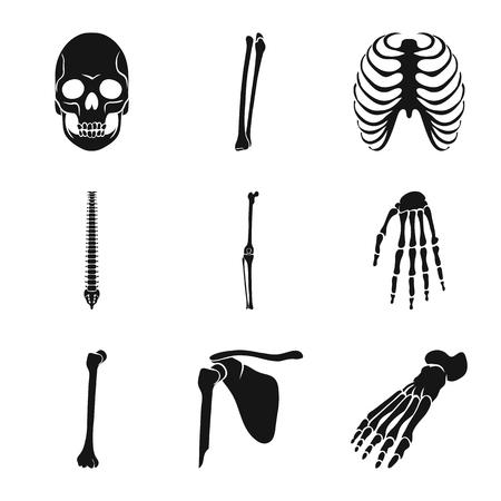 Vector illustration of biology and medical logo. Set of biology and skeleton stock symbol for web.