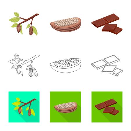 Vector illustration of food and yummy symbol. Set of food and brown   stock vector illustration. Standard-Bild - 120437876