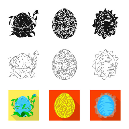 Isolated object of animal and prehistoric symbol. Collection of animal and cute  vector icon for stock. Illustration