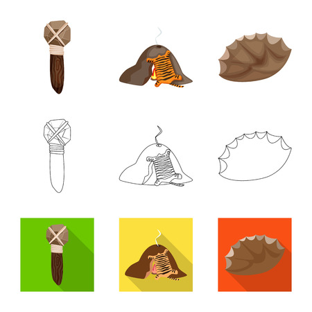 Vector design of evolution  and prehistory symbol. Set of evolution  and development  vector icon for stock. Vectores