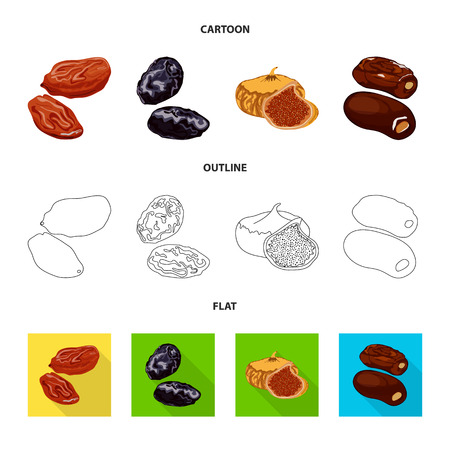Vector design of food  and raw. Set of food  and nature   vector icon for stock.