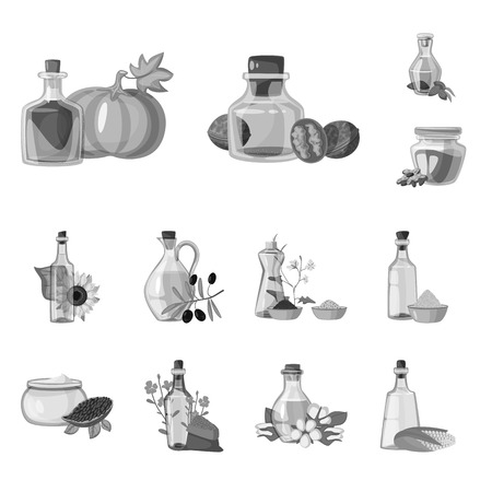Vector design of nutrition and organics icon. Collection of nutrition and glass  vector icon for stock.