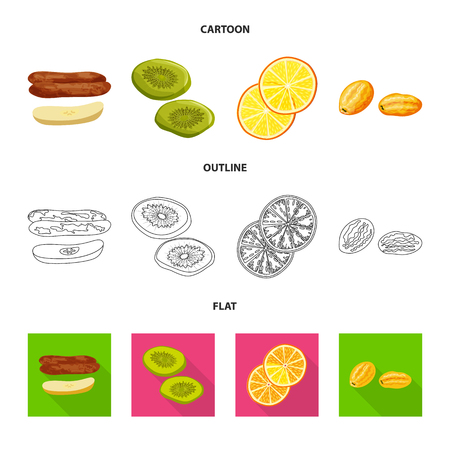 Vector design of food  and raw  icon. Collection of food  and nature   vector icon for stock.