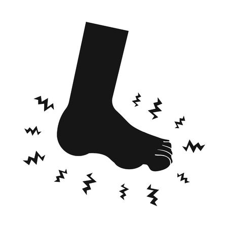Isolated object of foot  and flatfoot  sign. Collection of foot  and anatomy  vector icon for stock. Illustration