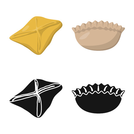 Isolated object of products  and cooking icon. Set of products  and appetizer stock symbol for web. Illustration