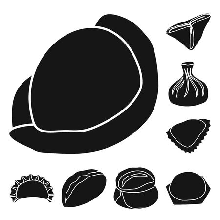 Isolated object of cuisine and appetizer sign. Collection of cuisine and food vector icon for stock.