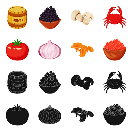 Isolated object of taste and product logo. Set of taste and cooking vector icon for stock.  イラスト・ベクター素材