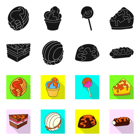 Vector illustration of confectionery and culinary symbol. Collection of confectionery and product vector icon for stock.