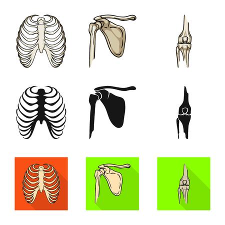 Vector design of medicine and clinic symbol. Collection of medicine and medical stock symbol for web.