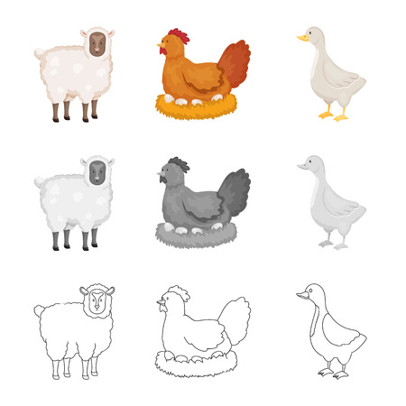 Vector design of breeding and kitchen  logo. Set of breeding and organic  vector icon for stock.