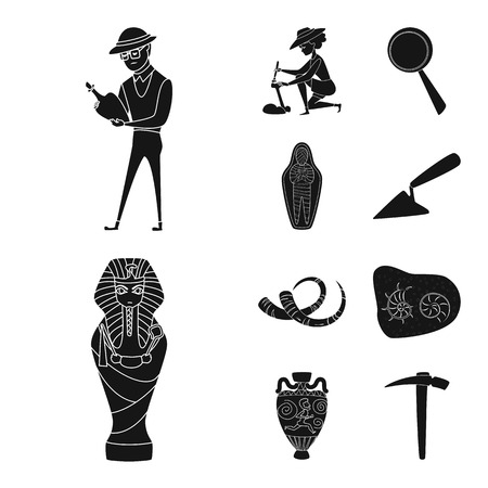 Vector design of museum and attributes sign. Set of museum and historical vector icon for stock.