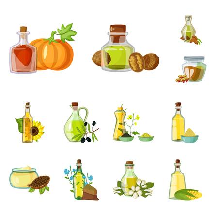 Objeto aislado del icono de botella y vidrio. Colección de icono de vector de botella y agricultura para stock.