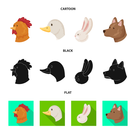 Vector illustration of agriculture and breeding. Collection of agriculture and organic  vector icon for stock.
