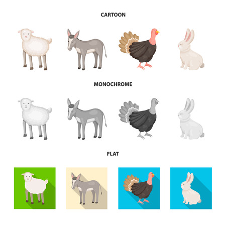 Vector illustration of breeding and kitchen. Set of breeding and organic  stock symbol for web. Illustration