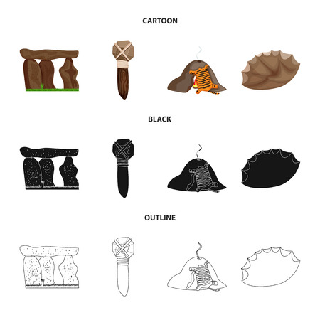 Isolated object of evolution  and prehistory sign. Collection of evolution  and development  vector icon for stock.