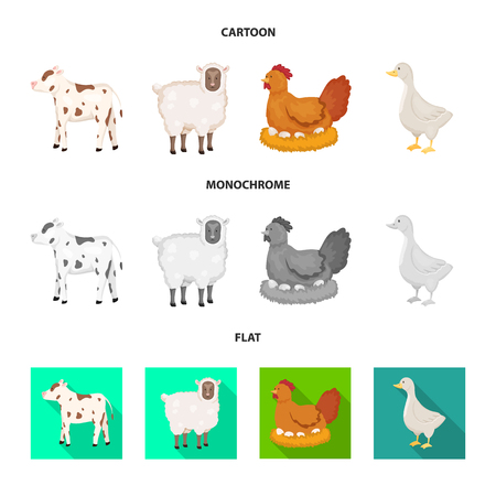 Vector illustration of breeding and kitchen  sign. Collection of breeding and organic  stock symbol for web.