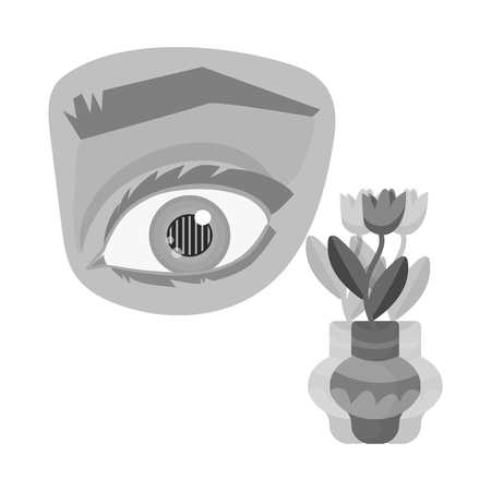 Vector design of eye and poor icon. Set of eye and blindness vector icon for stock. Illustration