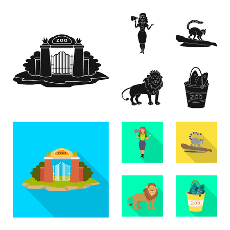 Vector illustration of nature  and fun  symbol. Collection of nature  and entertainment stock symbol for web. Illustration