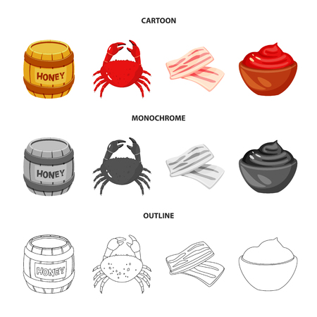 Vector design of taste and product logo. Collection of taste and cooking vector icon for stock. Vettoriali
