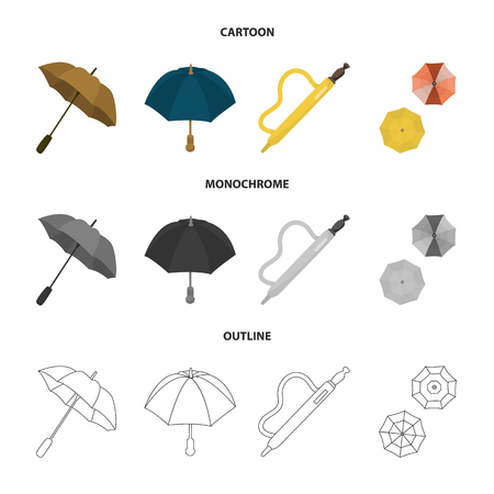 Vector illustration of protection and closed icon. Set of protection and rainy stock symbol for web.