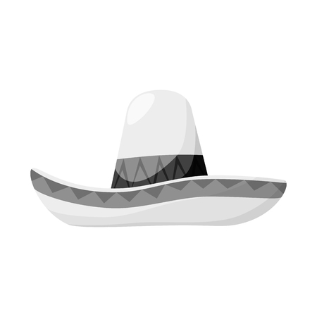 Isolated object of sombrero and mexican icon. Collection of sombrero and hat vector icon for stock.