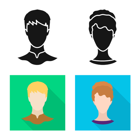 Vector design of professional and photo logo. Collection of professional and profile stock vector illustration.  イラスト・ベクター素材