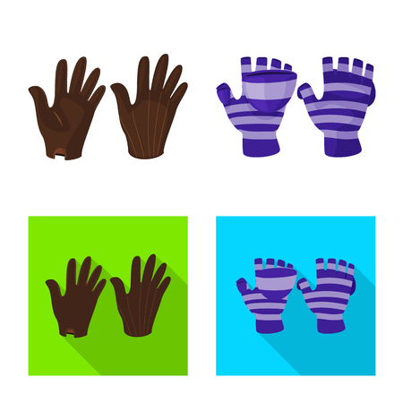 Vector design of silhouette and safety sign. Collection of silhouette and comfort vector icon for stock.