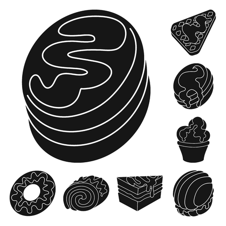 Vector illustration of sweetness and product sign. Collection of sweetness and sweet vector icon for stock.