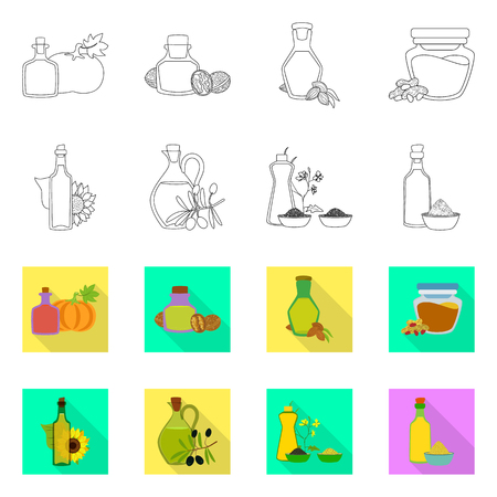 Isolated object of healthy and vegetable icon. Collection of healthy and agriculture stock vector illustration.