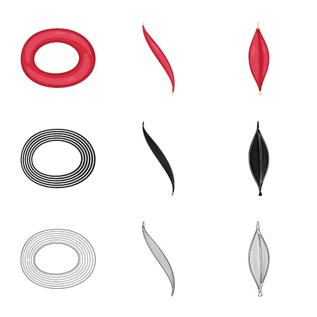 Vector design of fiber and muscular. Collection of fiber and body vector icon for stock.