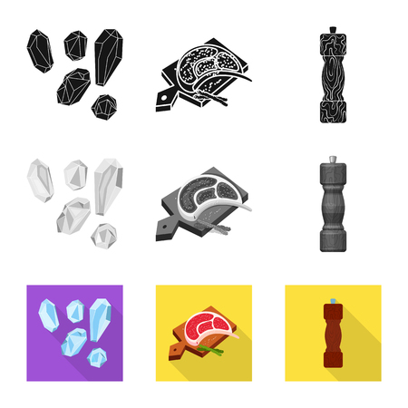 Vector design of cooking and sea symbol. Collection of cooking and baking   vector icon for stock. Illustration