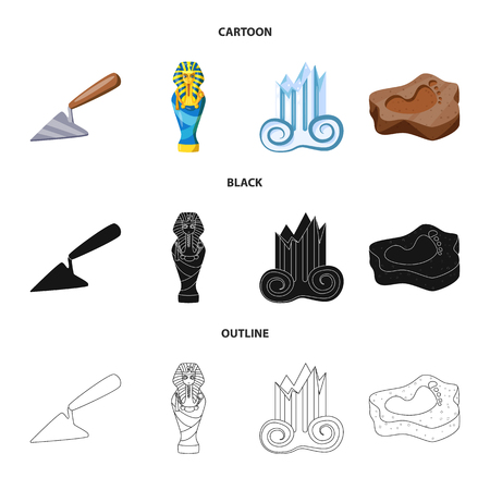 Vector illustration of story and items. Collection of story and attributes  stock symbol for web.
